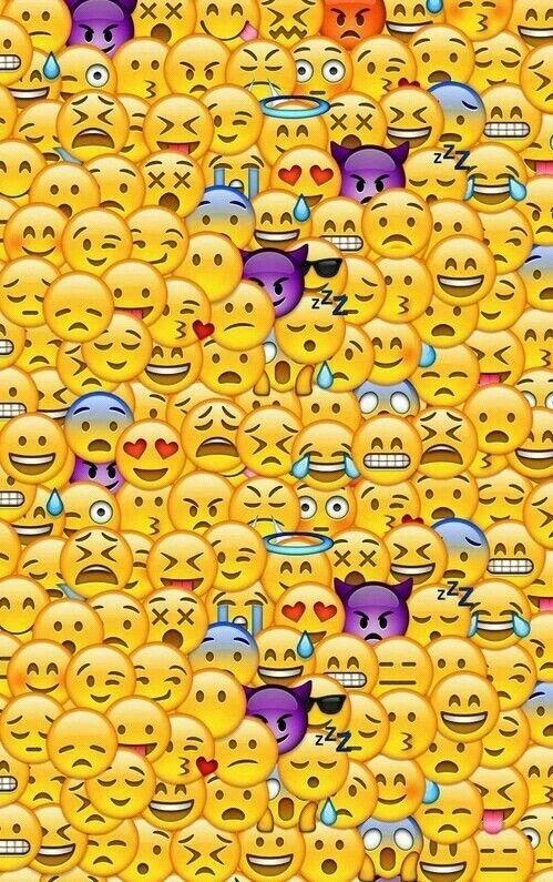Pues quien no ama los emoji aqui les dejo un fondo para los amantes de emoji como yo :) digamen de quien quieren fondos y los are