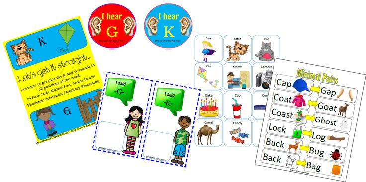 a FREE /k/ and /g/ activity that includes 84 different printable cards as well as two different activities to use them with in your speech room or early childhood classroom