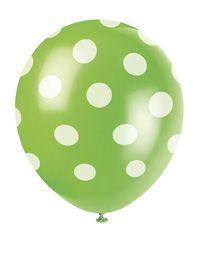 Luftballons Punkte grün bei www.party-princess.de
