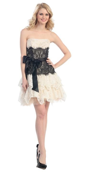 1ea988951c2 High Low Two Piece Homecoming Dress Sleeveless Lace Top Black in ...