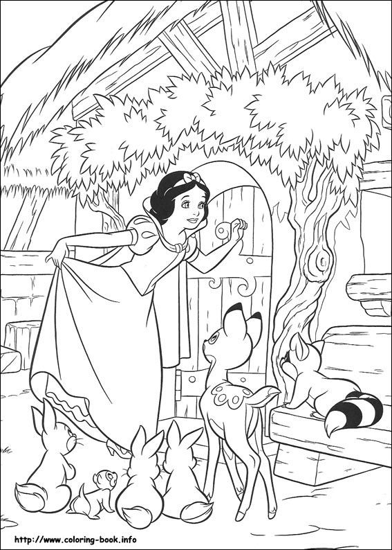 Snow White coloring pictures
