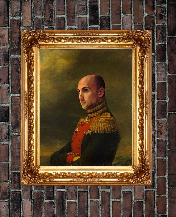 An old-timey military portrait to give you certain command. | 18 Gifts Anyone Who Loves Themself Will Want