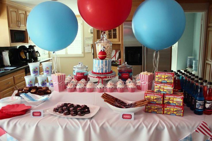 Circus birthday theme.