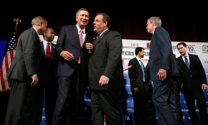 New York Times: Aug. 5, 2015 - John Kasich is in, Rick Perry is out in first Republican debate