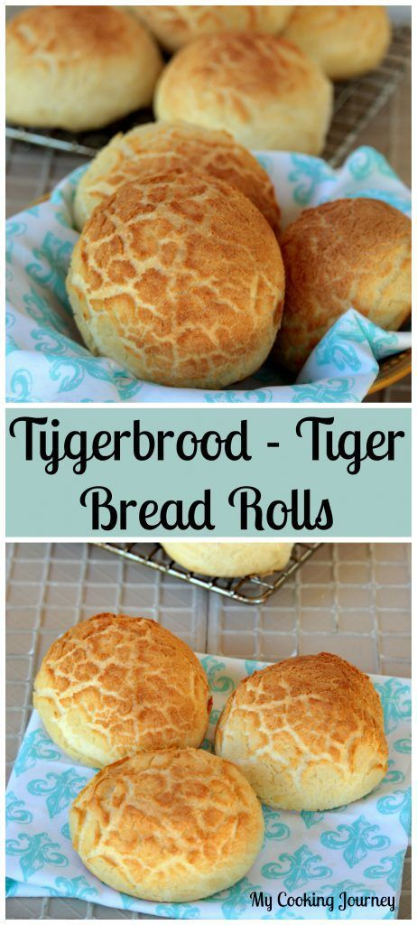 T for Tijgerbrood / Tijgerbol   Tiger Bread Rolls   Dutch Crunch Rolls