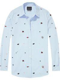 Hidden category Embroidered Button Shirt 6
