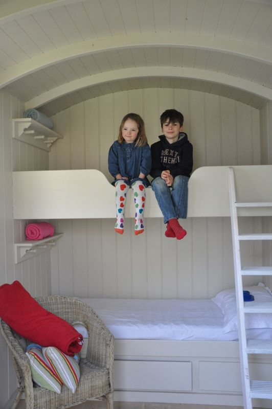 Bunk beds in the second shepherds hut