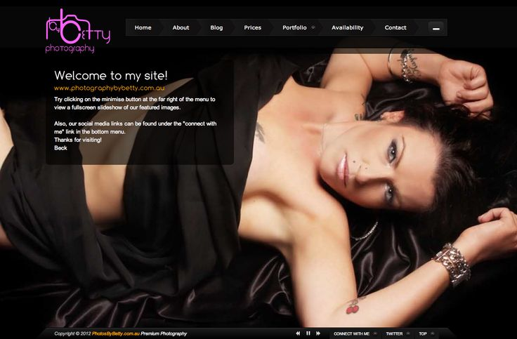 Photography By Betty - web design Central Coast Bullet Websites