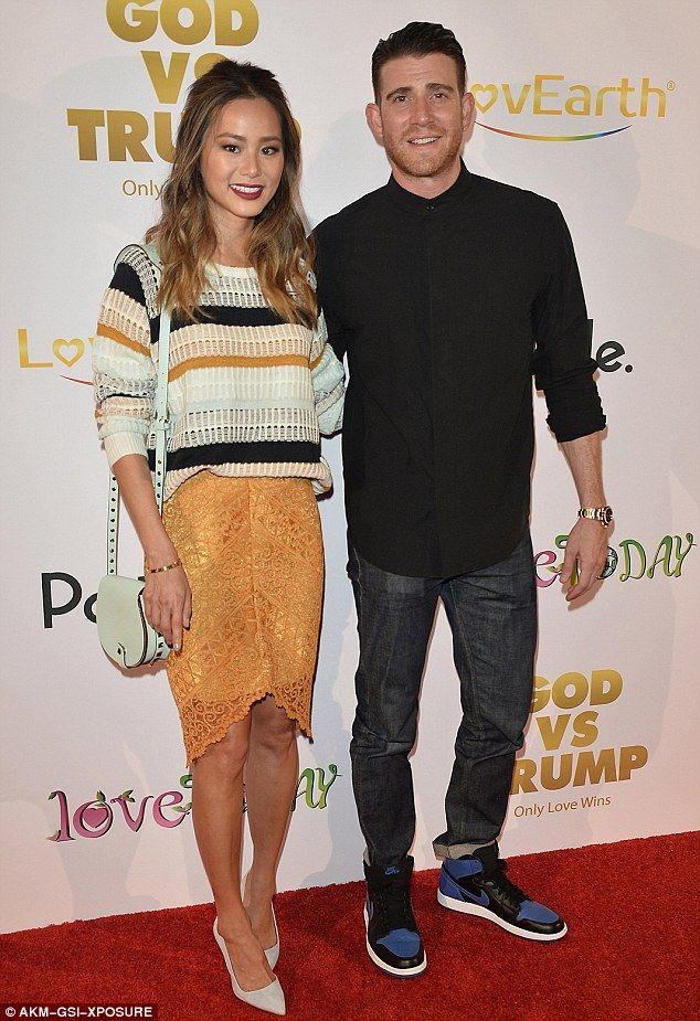 Happy couple: The 33-year-old actress Jamie was joined by her husband Bryan Greenberg