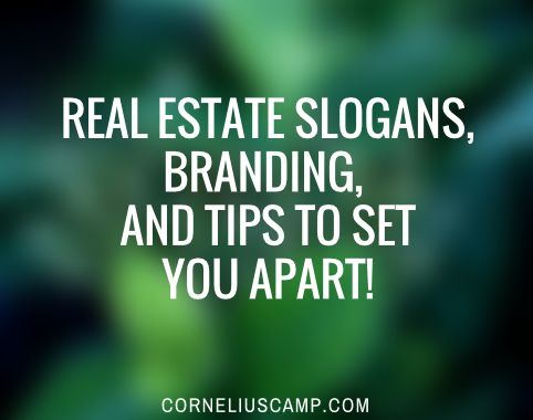 Real Estate Slogans, Branding, And Logo Tips To Set You Apart!  If you have any questions at all about buying or selling a home, I'm glad to help as a friend, not as someone that's trying to win your business :-) -Anne Nymark (813) 293-9236