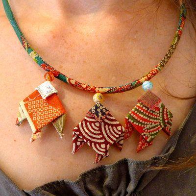 Créations de bijoux  textiles de Rositalala