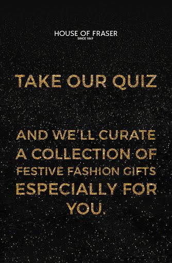 Click below to start the quiz and we'll curate a collection of festive fashion and gifts especially for you.