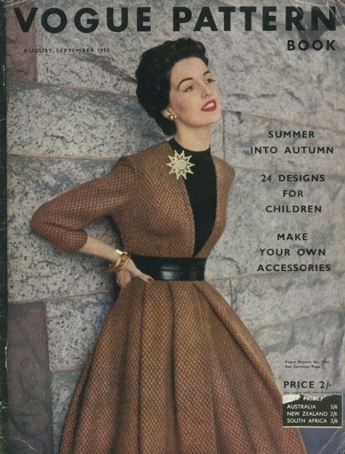 Vogue Pattern Book, August-September 1952