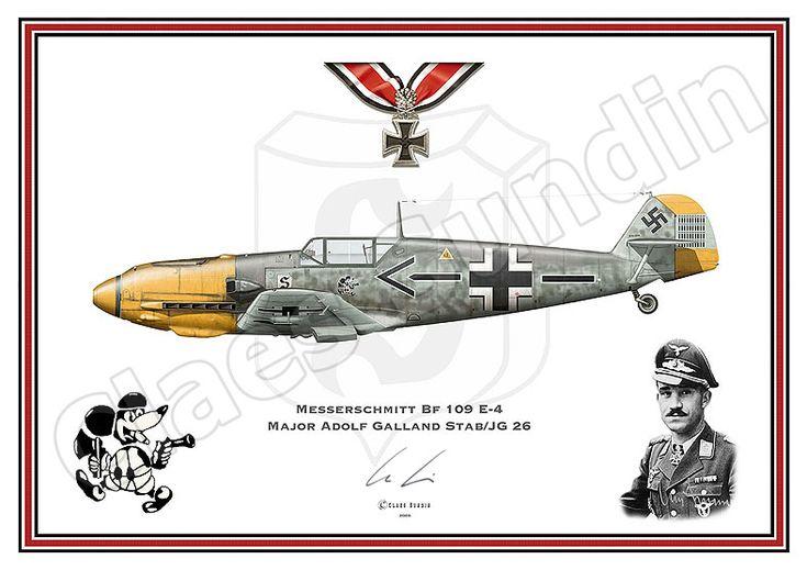 Me- Bf 109 E-4 di Adolf Galland