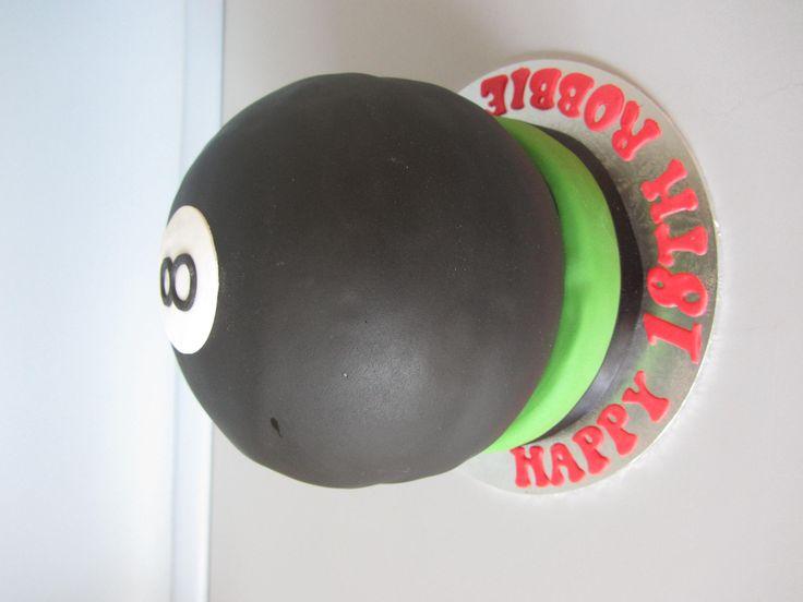 8 Ball cake