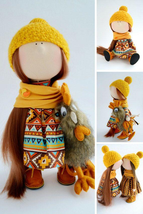 Bambole Puppen Rag doll Muñecas Soft doll by AnnKirillartPlace