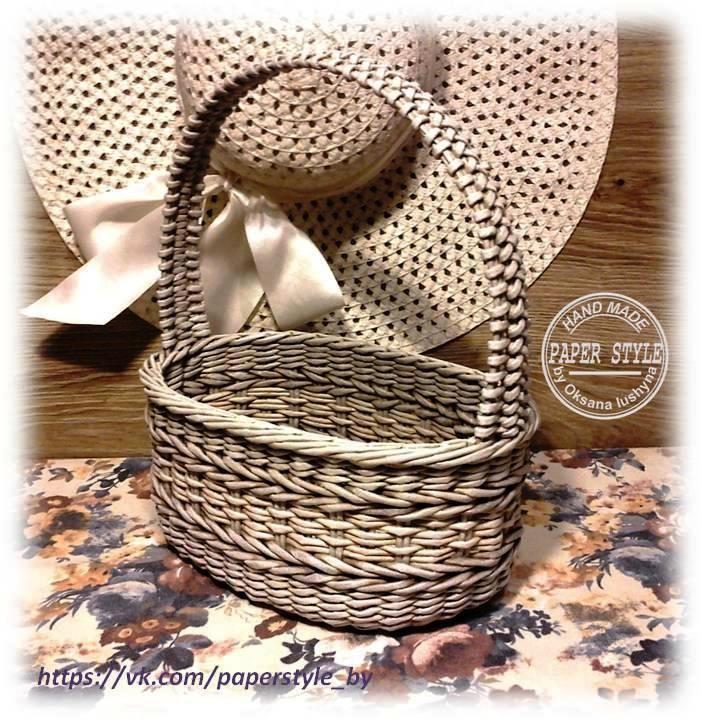 КОРЗИНКА #paperstyle #handmade #ручнаяработа #плетениеизбумаги #плетение #корзинка #интерьер #уютныйдом