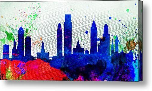 Philadelphia City Skyline Canvas Print / Canvas Art By Naxart Studio