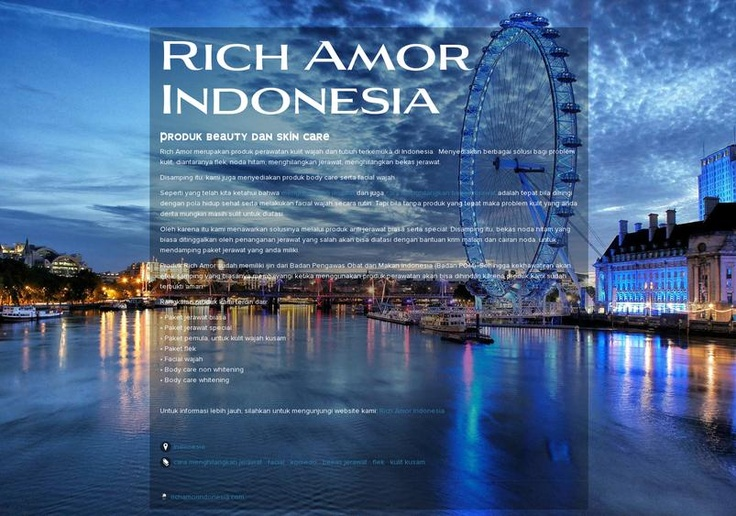 Rich Amor Indonesia's page on about.me – http://about.me/richamorindonesia