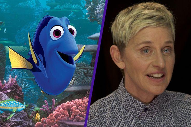 DORY's voice is Ellen DEGENERES
