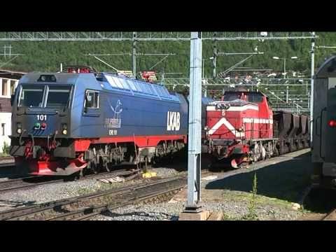 LKAB - ore trains Dm3 Narvik 2007 - YouTube