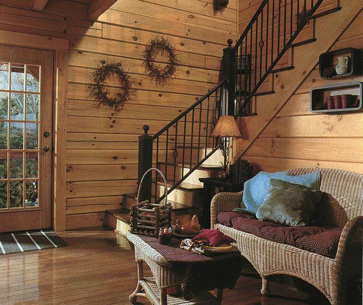 Cozy Log Home Interior