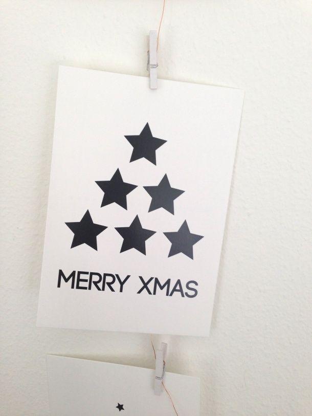 kerstkaart simpel en leuk christmas card diy