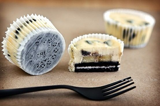 """Oreo Cheesecake Muffins"" but you'd be hard pressed to call them muffins"