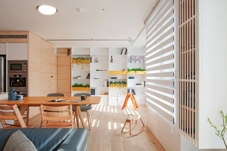 Designed for a growing family in Zhubei, Taiwan, this modern home maintains a clean canvas to put life and love at the forefront. The relationship between space