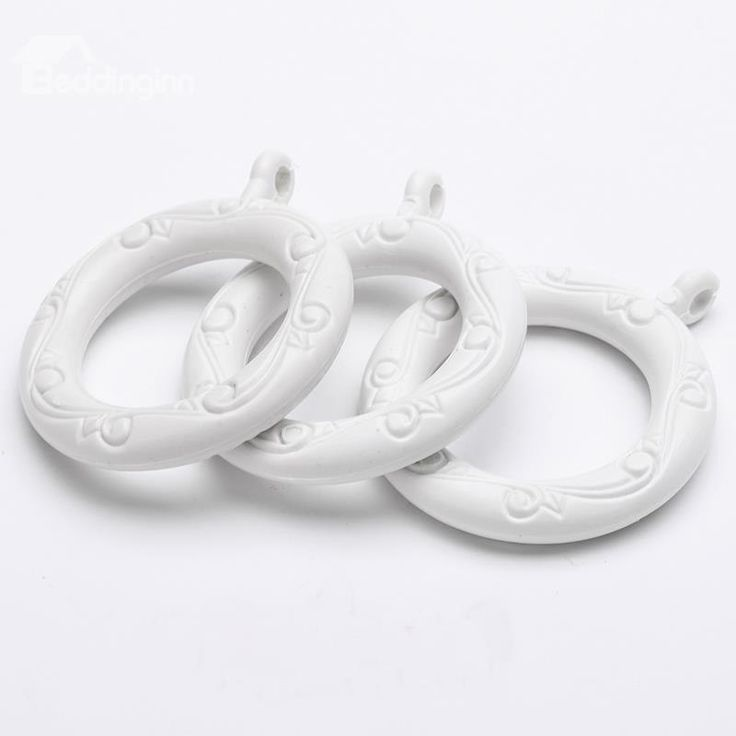 24-Pack White 1-1/2-Inchs Plastic Curtain Eyelet Rings