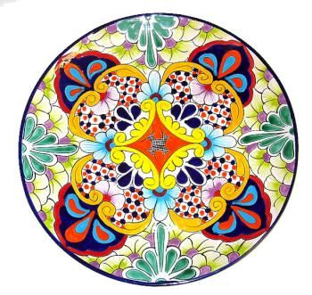 Round Colorful Talavera Platter