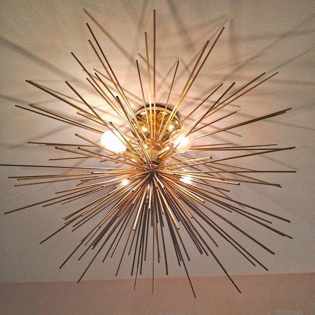 Diy Brass Urchin Light Fixture Obsessed Chandeliers