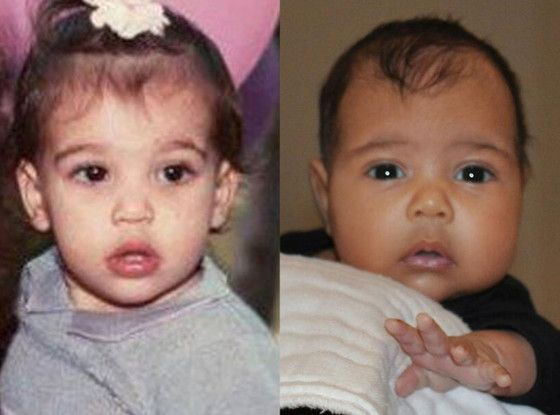 Kim Kardashian and daughter North West baby pics... like mommy, like daughter!