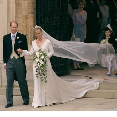 Prince Edward marries 34-year old Sophie Rhys-Jones on June 19, 1999. Edward was 35 years old.
