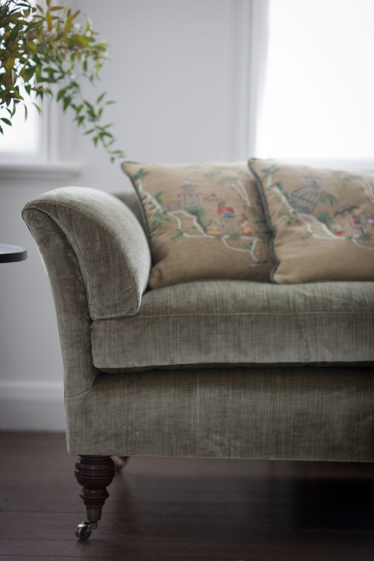 Inspired by an early 19th century neoclassical design, the low back Pompadour's clean, unfussy lines work just as well in a modern living space as in a traditional drawing room. The deep cushioning provides supreme comfort mixed with style.