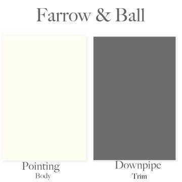 """Farrow & Ball """"Pointing"""" = cream color exterior (no yellow tint)"""