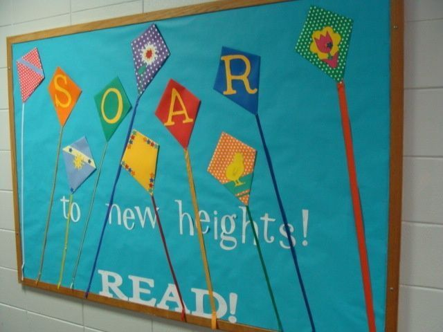 Classroom Decorations For April ~ Possible summer reading theme bulletin boards