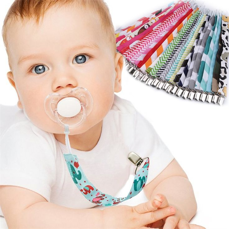 Baby fabric dummy clip and chain. Range of colours. $1.21 from Aliexpress