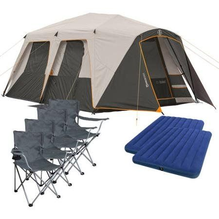 Bushnell 12 Person Instant Cabin Tent with 2 Bonus Queen Airbeds and 4 Chairs Value Bundle *** Click image for more details.Note:It is affiliate link to Amazon.