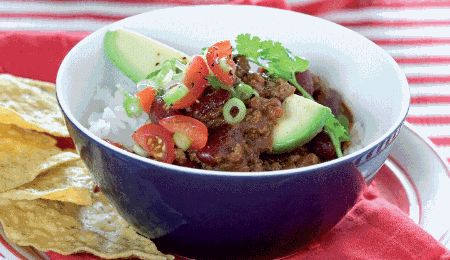 This Mexican kitchen staple is given a new twist with low-fat ostrich mince and a healthy salsa. The kidney beans are a great source of fibre and the avocado provides healthy monounsaturated fat.