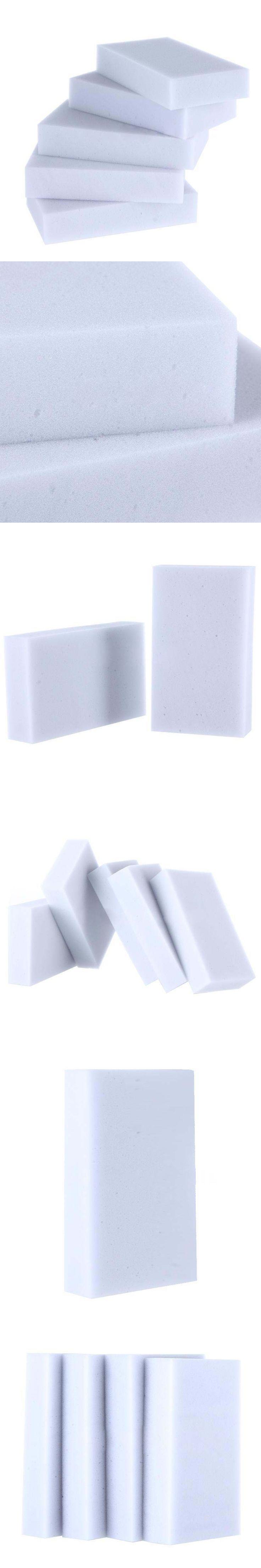 100pcs Eraser Melamine Foam Cleaner Magic Sponge Multi-Functional Soft White