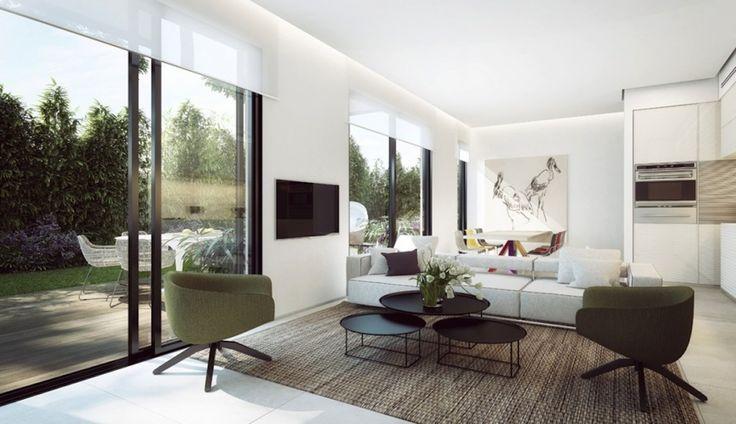 Дизайн уютных гостиных комнат - Природа