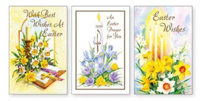 12 Small Easter Cards.