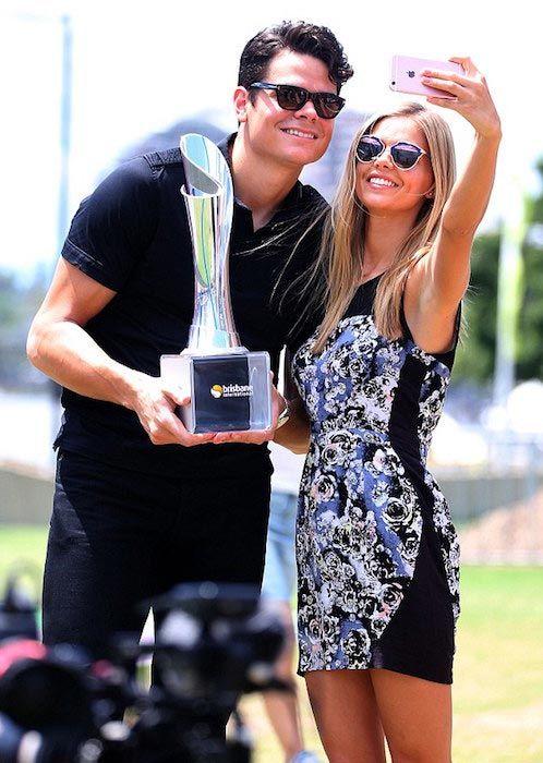 Milos Raonic and girlfriend Danielle Knudson...