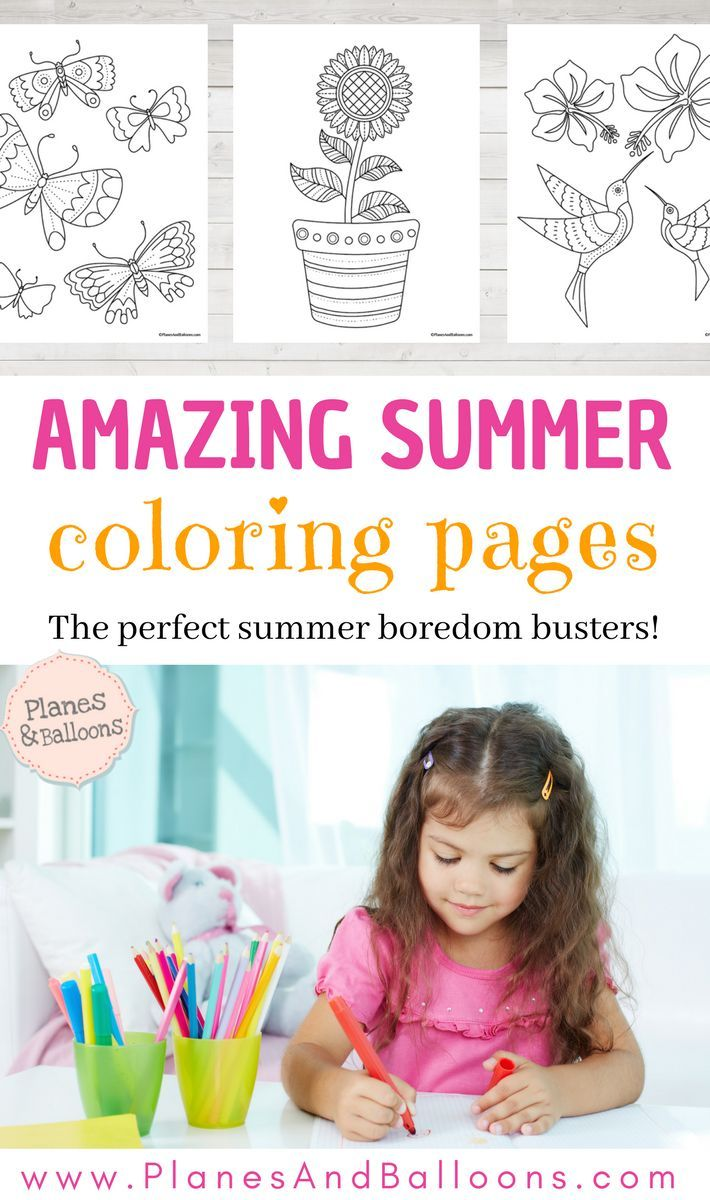 Summer coloring pages the perfect boredom busters to keep at hand