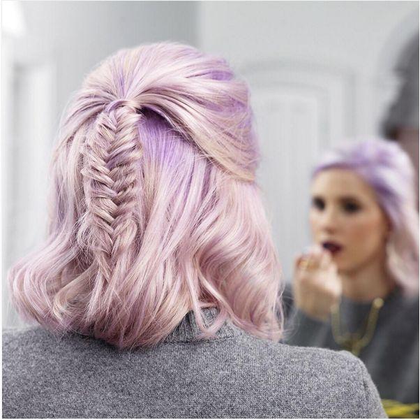 fishtail braid short hair