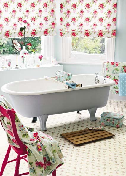 Rose Sprig White flooring design by Cath Kidston for Harvey Maria