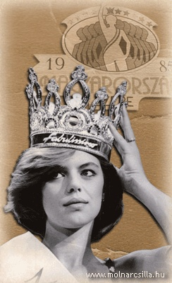 In memoriam Csilla Andrea Molnár (1969-1986). Miss Hungary 1985, committed suicide in 1986. Type www.molnarcsilla.hu in your browser.