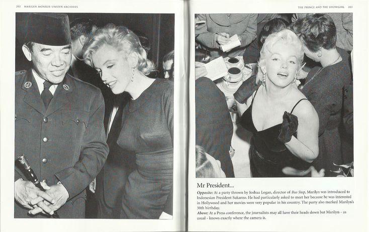 Soekarno and Marilyn Monroe
