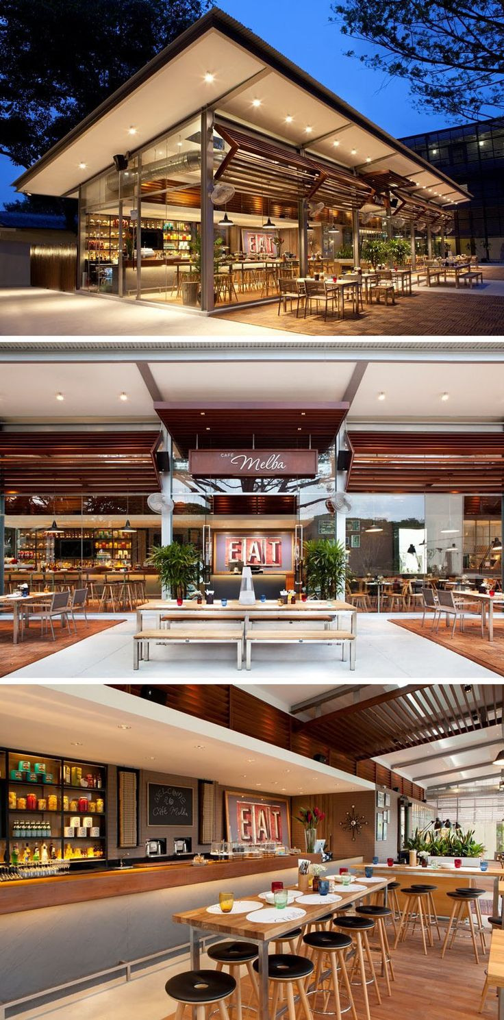 10 Unique Coffee Shop Designs In Asia | Inspired by the easy going Australian lifestyle, designphase dba designed the Cafe Melba at Goodman Arts Centre in Singapore to have a sophisticated and elegant yet relaxed and comfortable feel to it.